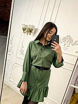 Платье с рюшами свободное, размеры от 44 до 50, фото 3