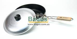 Сковорода походная алюминиевая 28см с откидной ручкой и внутренним антипригарным покрытием Силумин БЛC28торк