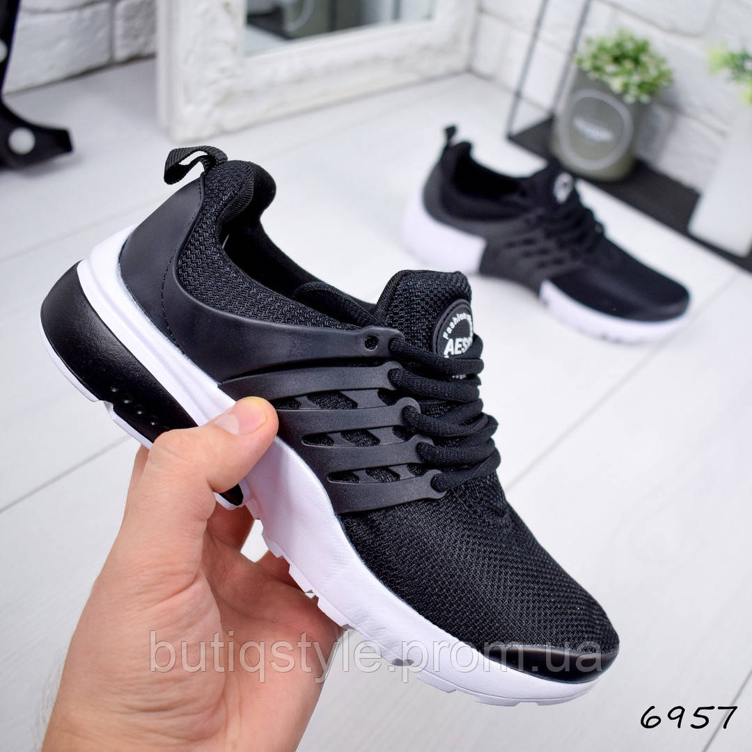 Женские  кроссовки Olex черный обувной текстиль,  на шнуровке