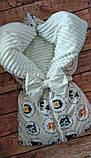 Утепленный конверт-плед Плюш на молниях   Мишки, фото 6