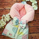 Утепленный конверт-плед Плюш на молниях   Мишки, фото 7
