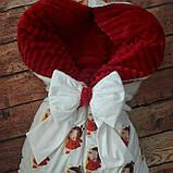 Утепленный  конверт - плед  с плюшем осень-зима-весна, фото 3