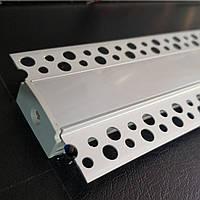 Светодиодный встроенный профиль с Рассеивателем в гипсокартон под штукатурку, фото 1