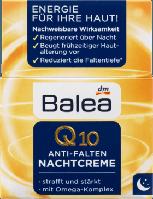 Balea Q10 Anti-Falten Nachtcreme Ночной крем против морщин с Q10 + Омега 35+  50 мл