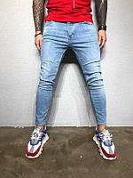 Мужские стильные джинсы, светлые