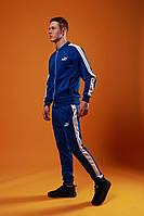 Мужской спортивный костюм Puma (Blue), голубой спортивный костюм с лампасами, костюм с лампасами Пума