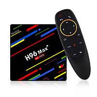 ТВ приставка H96 MAX+ 4/64 Voice - Android 8.1 c голосовым поиском