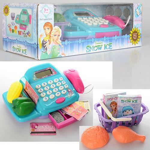 Касовий апарат 66049BX калькулятор, продукти, сканер, музика, світло, на батарейках, в коробці, 36-16-12,5 см