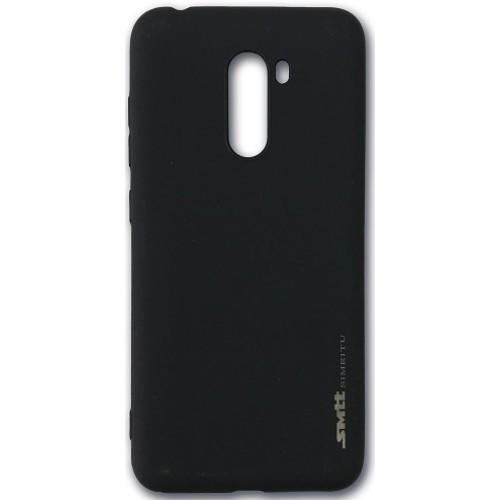 Силиконовый чехол Smitt Xiaomi Pocophone F1 black / чехол для сяоми Smitt Xiaomi Pocophone F1 black черный / силиконовый чехол на Smitt Xiaomi