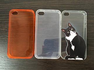 Силиконовый  чехол накладка для iPhone 4/4s - Распродажа