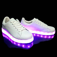 Кроссовки светящиеся White 653