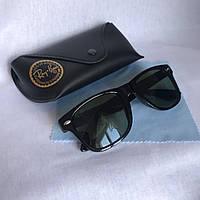 Солнцезащитные очки унисекс Ray Ban Wayfarer стекло зеленый комплект