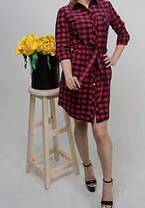 Платье-рубашка в клетку, размеры от 42 до 48, фото 3