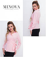 Жіноча блуза в діловому стилі на запах, фото 1