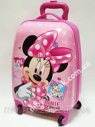 Детский чемодан дорожный на колесах «Минни Маус -5», 520397, фото 2