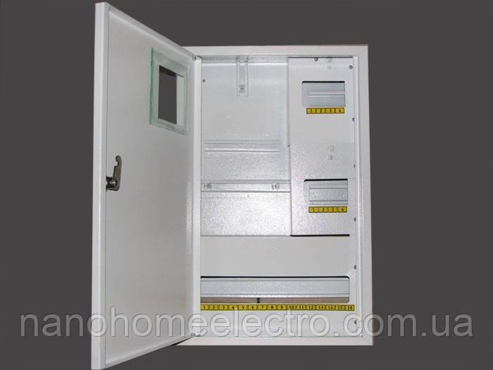 Накладной металический распределителный шкаф на 24 автомата для трехфазного счетчика