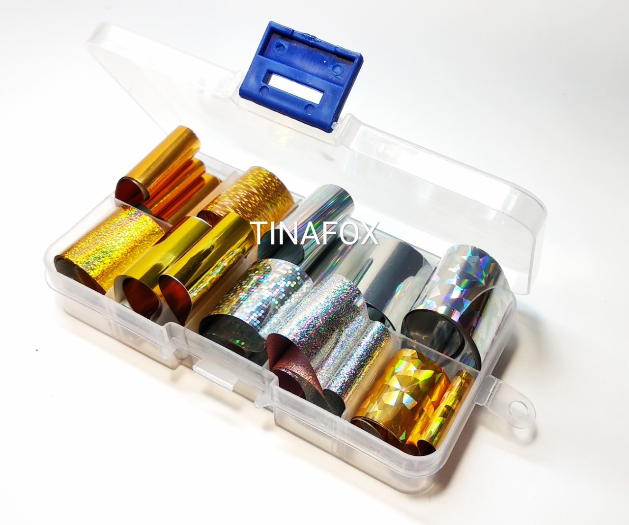 Фольга для литья переводная в контейнере, набор 10шт