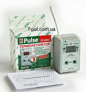 Розеточный терморегулятор pulse pt-20-n1 для панелей обогревателей, для конвекторов, для твердопаливных котлов, фото 2