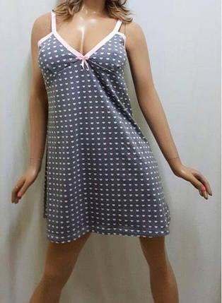 """Ночная рубашка, сорочка, ночнушка женская """"Принт"""", фото 2"""