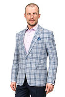 Укороченный молодёжный мужской пиджак в клетку Renzo 504-16