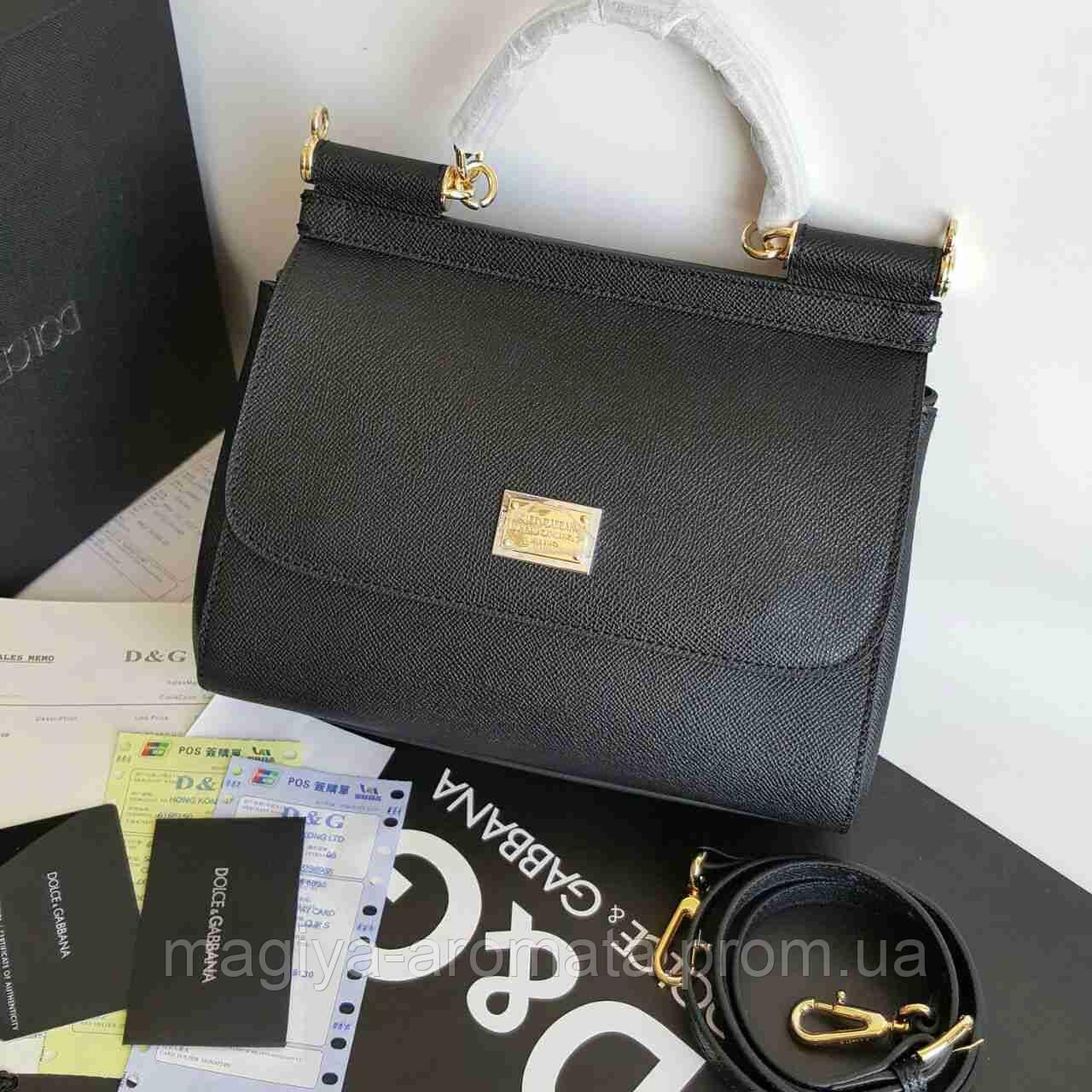d18c3a9594af Сумка Dolce & Gabbana Sicily Black Дольче Габана Сисли - Магия Аромата -  Парфюмерия, Брендовые