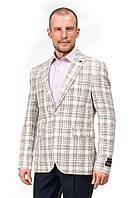 Укороченный мужской пиджак в клетку Renzo 745
