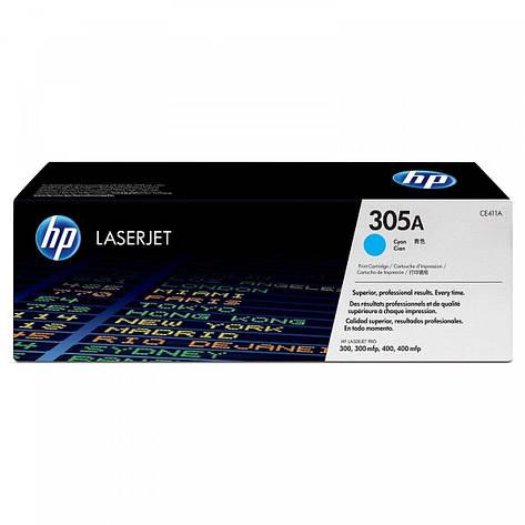 Заправка картриджа HP CE411A (305A) синий, фото 2