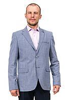 Светло-серый мужской деловой пиджак Victor Enzo 5095
