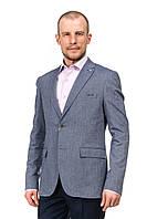 Элегантный пепельно-серый мужской пиджак Victor Enzo 5095-3577