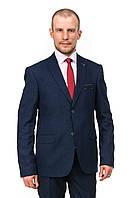 Деловой тёмно-синий мужской пиджак Victor Enzo 5010-3079
