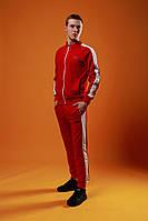 Мужской спортивный костюм Fila (Red), красный спортивный костюм с лампасами, костюм с лампасами Фила