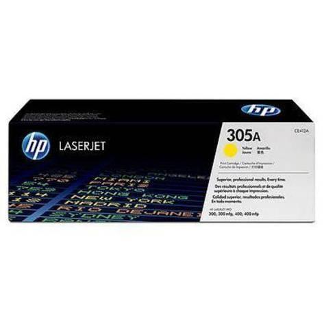 Заправка картриджа HP CE412A (305A) желтый, фото 2