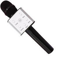 Портативный микрофон-караоке Q7, Bluetooth, MS + чехол, черный