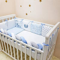 Комплект детского постельного белья Art Design Геометрия голубая