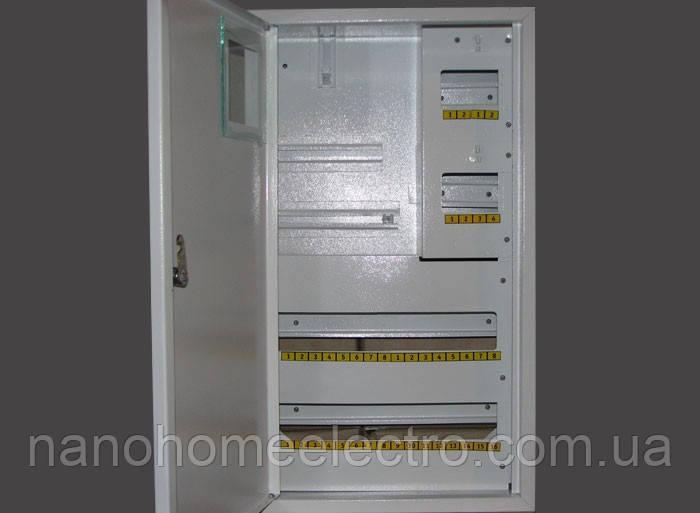 Накладной металический распределителный шкаф на 36 автоматов для трехфазного счетчика