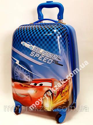 """Детский чемодан дорожный на колесах 16"""" «Тачки» Cars-14, фото 2"""