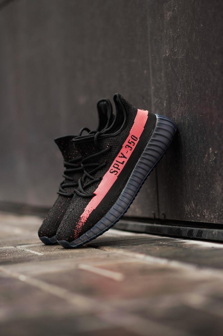 441020d7 Мужские кроссовки в стиле Adidas Yeezy Boost 350 V2 Bred (Black/Red), ...