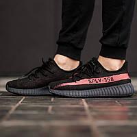 f05753fe Мужские кроссовки в стиле Adidas Yeezy Boost 350 V2 Bred (Black/Red), Адидас  Изи буст 350 (Реплика ААА)