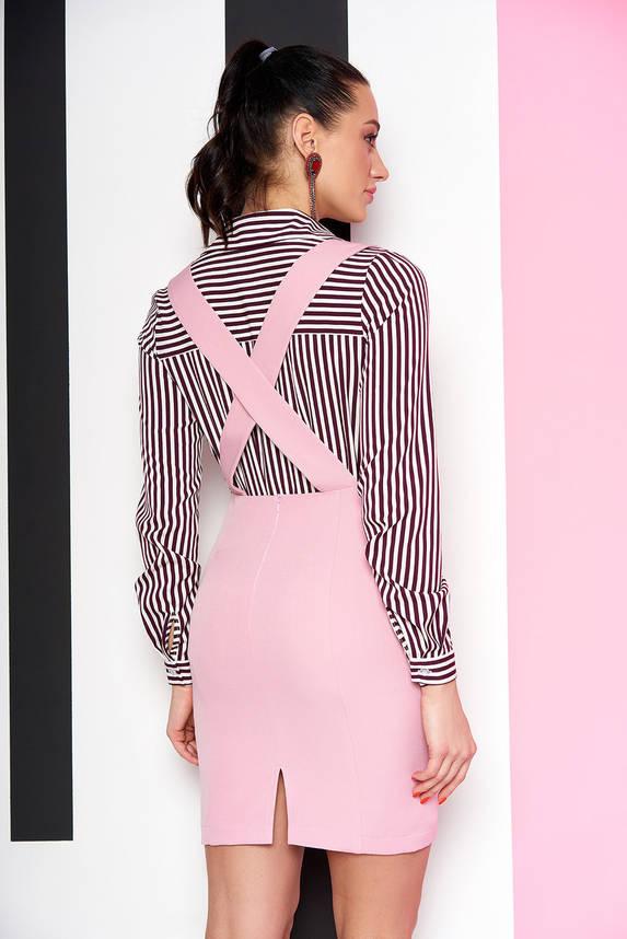 Модная юбка короткая с подтяжками розовая, фото 2