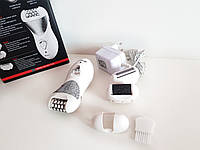 Эпилятор женский  Gemei GM 3061 4в1  4 насадки, 2 скорости, работа от аккумулятора, фото 1