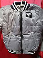 Детская деми куртка, на 1-4 года, серый