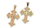 Крест серебряный с Распятием Иисуса Христа  7912, фото 2