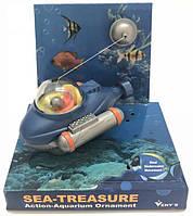 Экшн декор для аквариума Батискаф синий