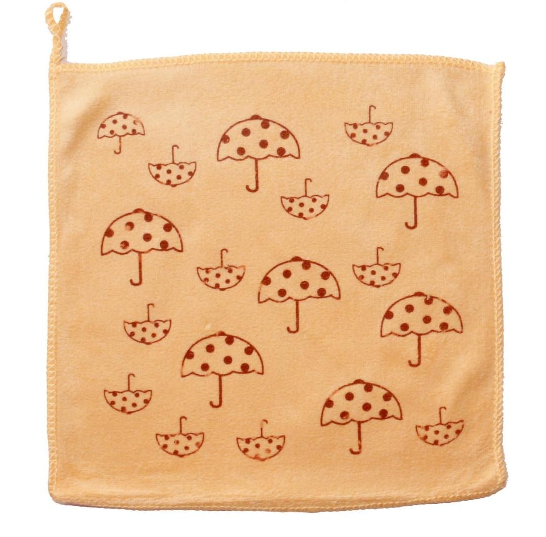 Кухонная салфетка (микрофибра) 25х25. Зонтики