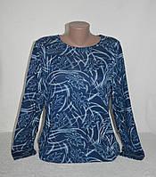 Трикотажная женская кофта в синем цвете - размеры 58, 60, фото 1