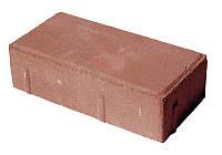 """Тротуарная плитка """"Кирпич"""" Цветная на белом цементе, 60 мм"""