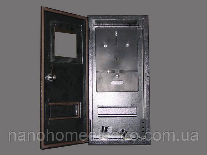 Уличный металлический ящик 1 фазный счетчик+6 автоматов