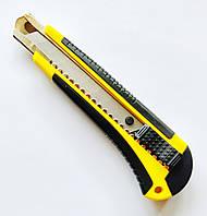 Нож канцелярский 18 мм с металлическими направляющими для лезвия и механизмом ступенчатой подачи лезвия