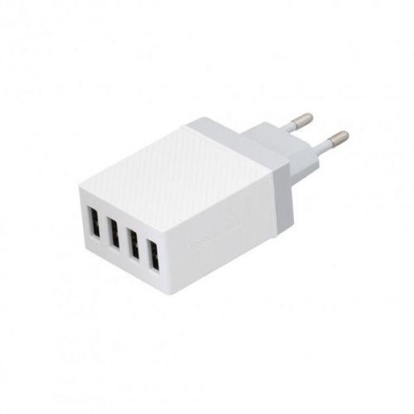 Сетевое зарядное устройство HOCO C23B HAOKE 4USB 3.4A White