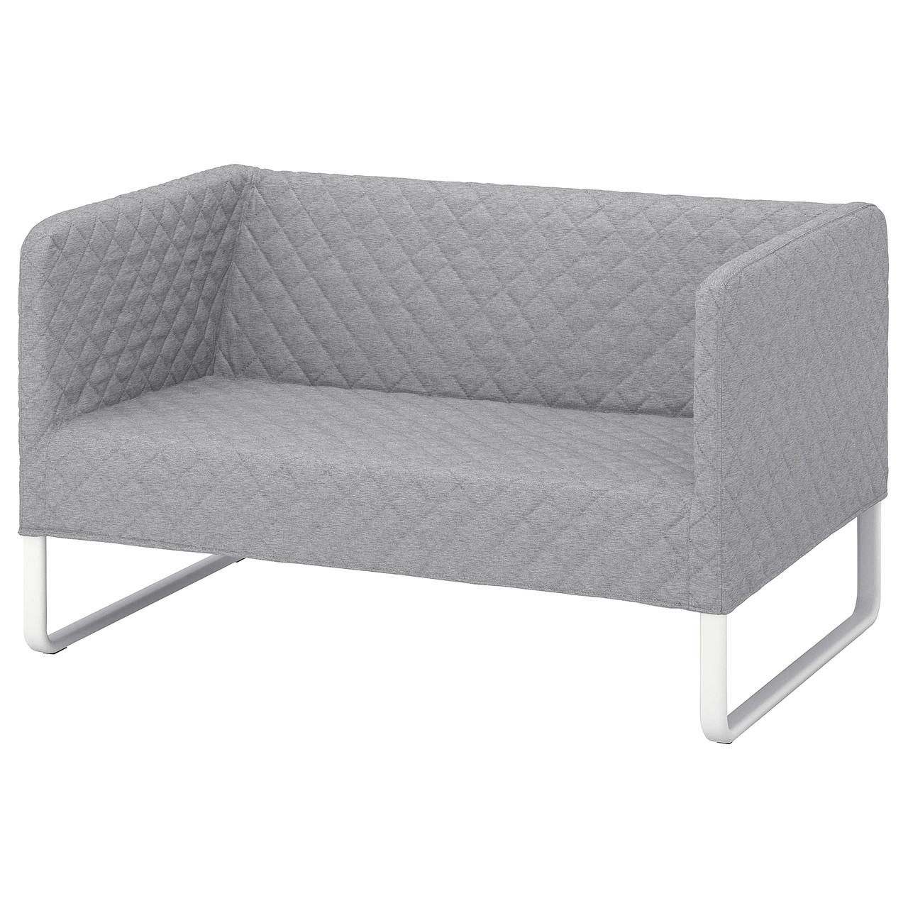 """IKEA """"КНОППАРП"""" диван двухместный светло-серый"""